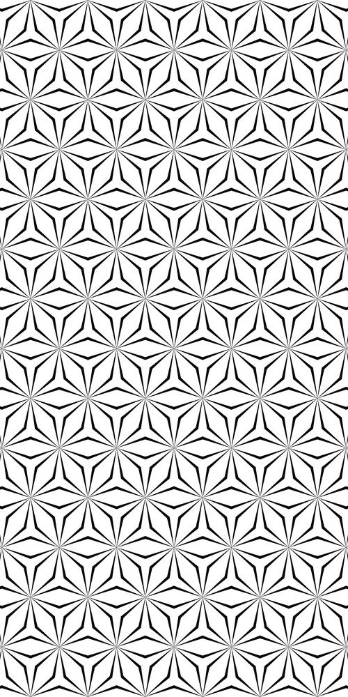 Seamless monochrome hexagonal pattern