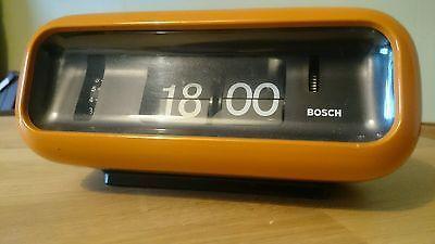 Vintage retro BOSCH ALARM FLIP clock SUPER RARE SUPER COOL