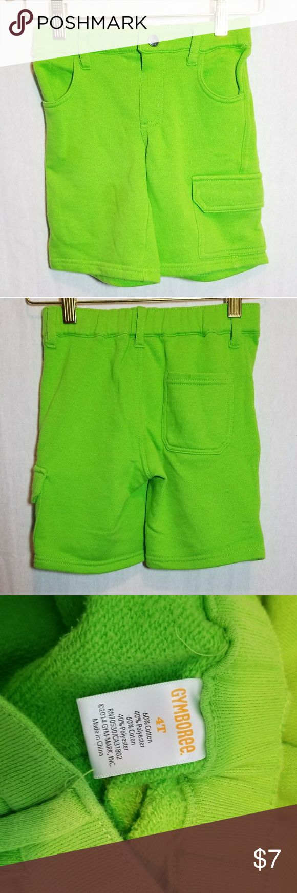Gymboree Toddler Youth Lime Green Shorts 4T Unisex Boy or Girl Lime Green Shorts. Cotton Blend, Size 4T Gymboree Bottoms Shorts