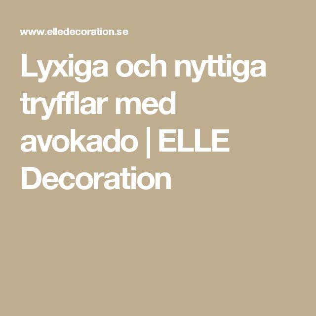 Lyxiga och nyttiga tryfflar med avokado   ELLE Decoration