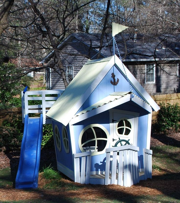 A custom playhouse company located in north georgia that for Whimsical playhouse blueprints