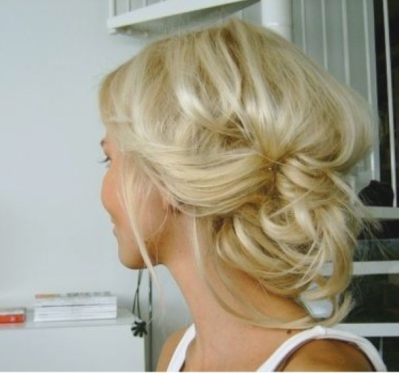 blonde messy updo prom formal | My Style | Pinterest