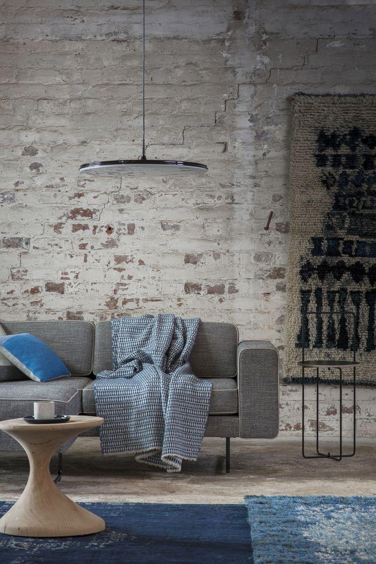 Tapio Anttila Collection – TIP pendant light, RIM sofa, Mixrack table