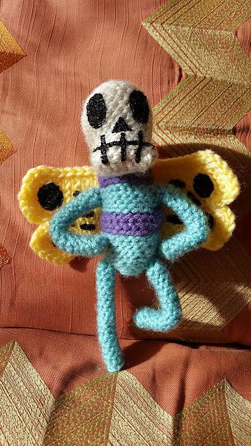 Skeleton Butterfly from Adventure Time - one of my proudest amigurumi creations! Available for sale in my Etsy shop: https://www.etsy.com/listing/288877117/adventure-time-skeleton-butterfly?ref=shop_home_active_5