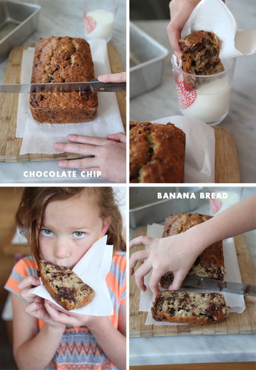 Best chocolate chip banana bread recipe ever.  Adapted from Cook's Illustrated.  From Foodie Crush.