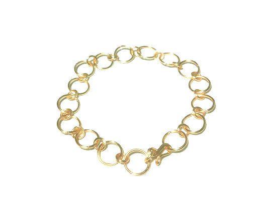 Pulsera de cadena de argollas doradas, pulsera de argollas, cadena de arollas, pulsera dorada, regalos para navidad, envio gratis by MaySantelizModa on Etsy