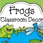 Are you ready for a FROG-TASTIC year? This packet is 300 pages! Whew! This Frog Themed Classroom Decor Set will get you started on making your clas...