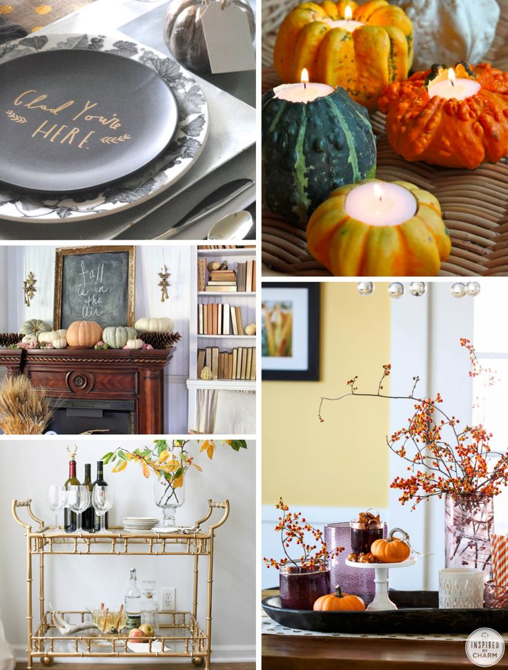 Lots of beautiful decor ideas for Fall entertaining!