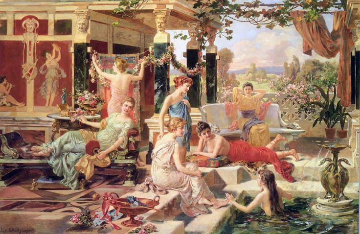 Roman Bath Emmanuel Oberhausen MetaGrafia Canvas Art