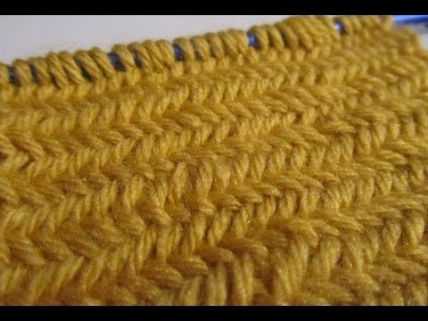Great video on how to knit the herringbone stitch. I really want to try this one!