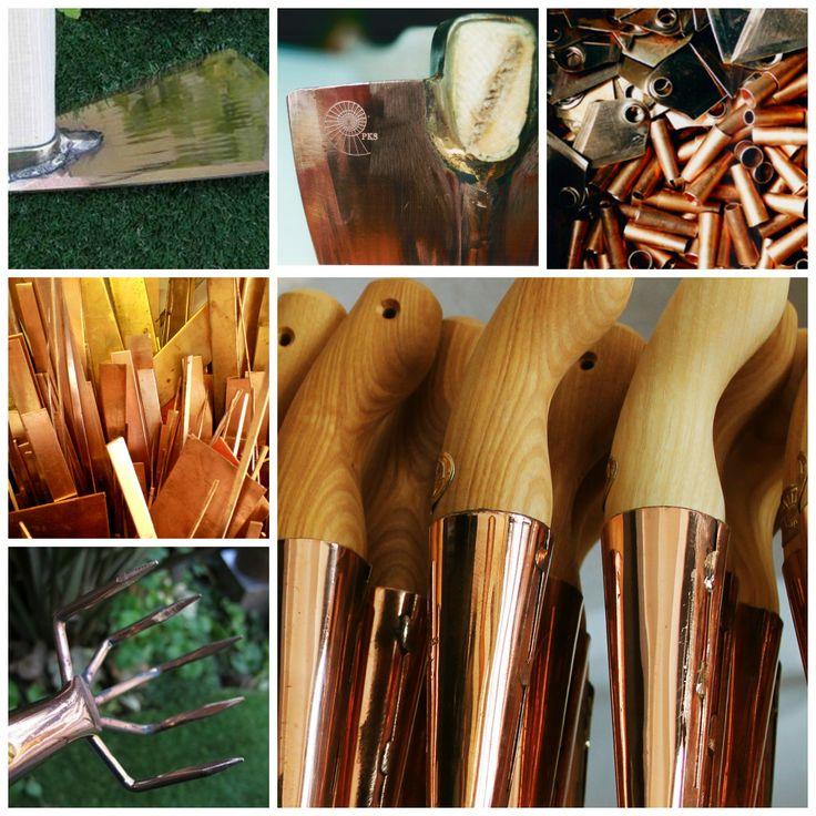Wyjątkowe narzędzia do ogrodu z miedzi i brązu.