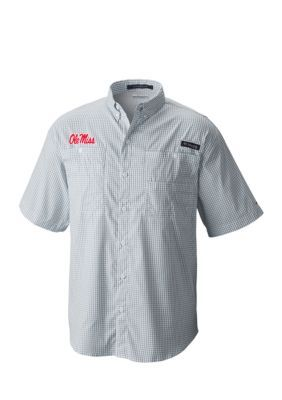 Outdoor Custom Sportswear Men's Ole Miss Super Tamiami Shirt - Navy - 2Xl
