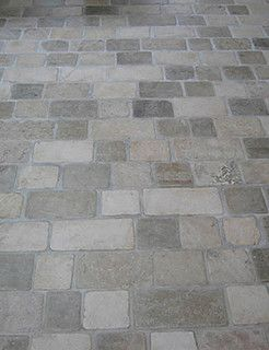 Limestone Tumbled Cobblestone Pavers - traditional - floor tiles - other metro - by Rebekah Zaveloff