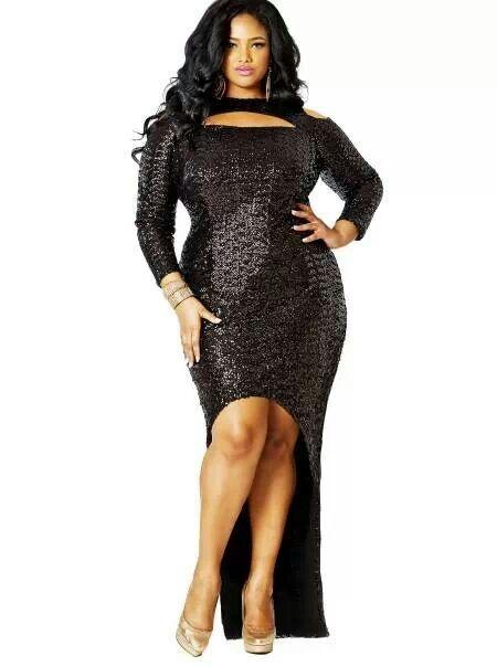 high low sequin dress with cut out neckline plus size #UNIQUE_WOMENS_FASHION