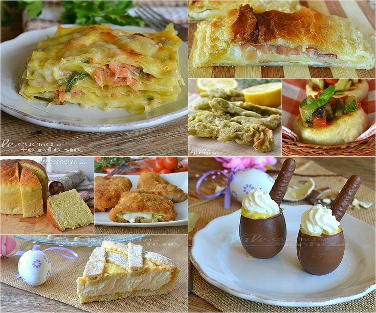 Menù di Pasqua ricette facili e veloci e la mia Pasqua, tante ricette dall'antipasto al dolce ed un piccolo racconto della mia Pasqua da condividere con voi