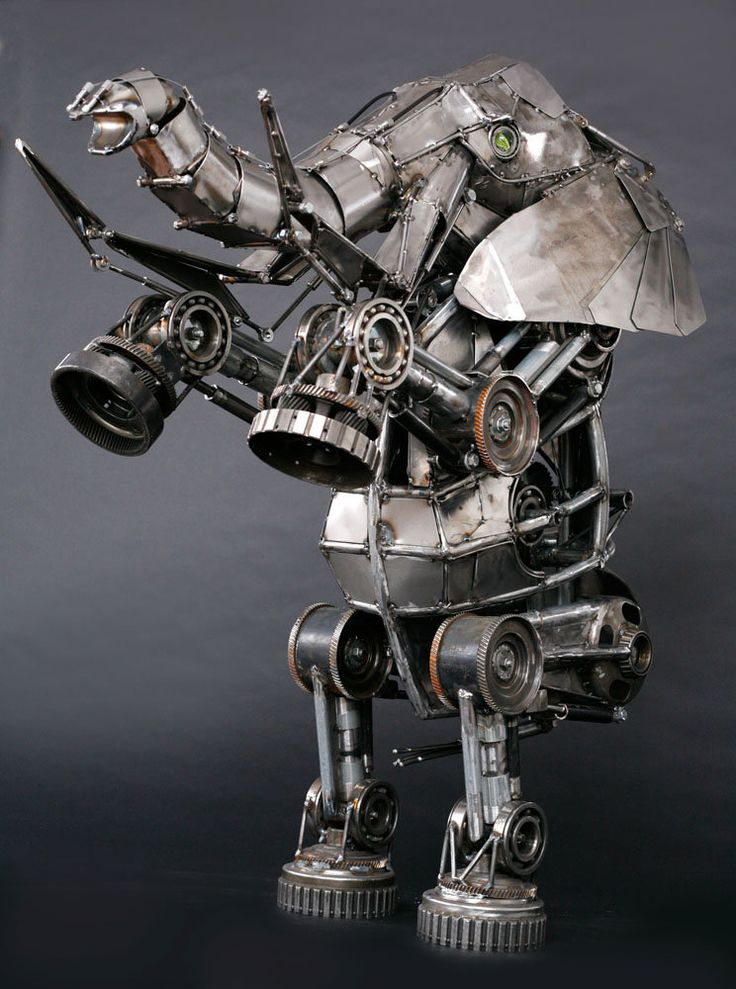 ArtStation - Mechanical articulated elephant sculpture, Andrew Chase