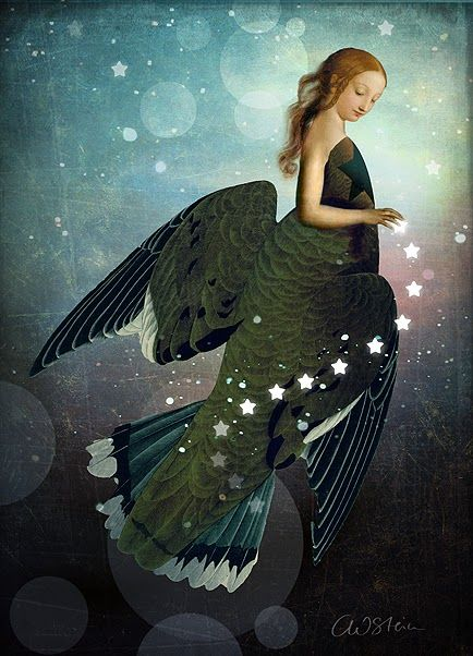 Vintage collage illustration by German digital artist Catrin Welz-Stein