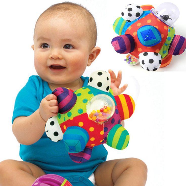 Bebé De Juguete Divertido Pumpy Bola Lindo Suave de la Felpa Traqueteos de Mano del Paño campana Agarrando Capacidad de Formación Toy Niños Niñas Anillo de Juguetes Para Niños de Regalo