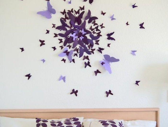6 Wanddeko Selber Machen Schmetterling Deko Schlafzimmer Lila 3d