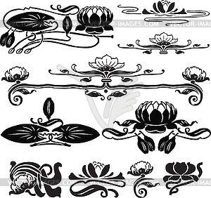 logo research: waterlily jugendstil