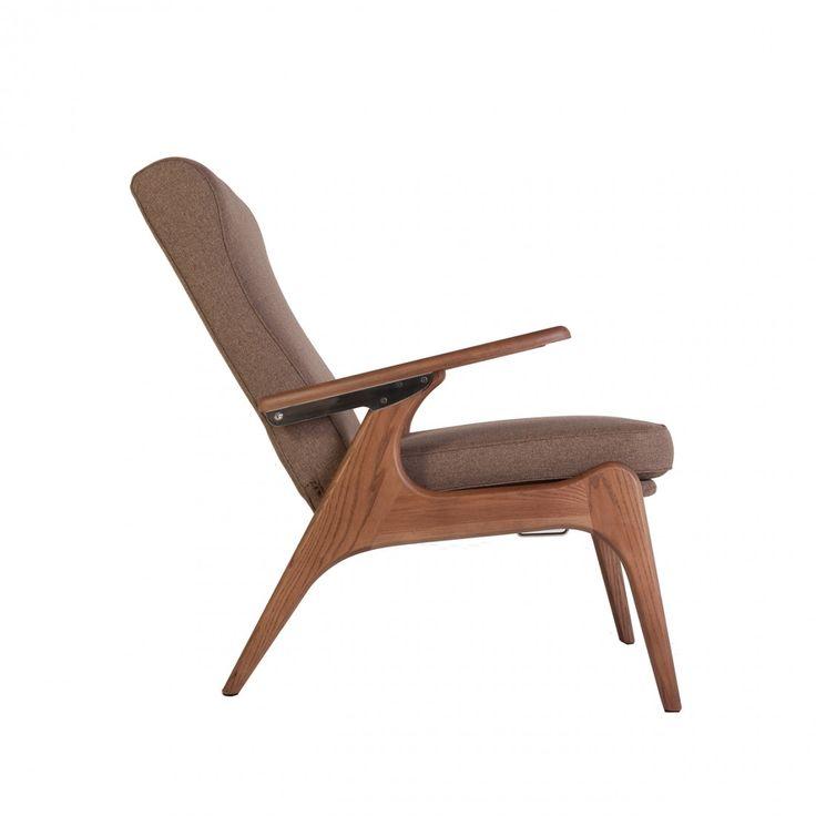 Kontakt Mid-Century Recliner Chair - Brown, ,