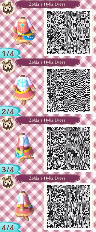 #ACNL Zelda's Hylia Dress QR From: The Legend of Zelda: Skyward Sword ~☆Pトïれçë$$☆ Designs