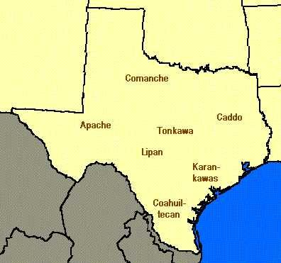 """""""For millennia, various tribes of native Americans occupied the region that is now Texas. They were as diverse in culture as the geography of Texas itself. [This website provides] a very brief overview of the major tribes that existed at the time of the first European exploration."""": Texas History, American History, Indian Tribes, Texas Regions, Texas Tribes, Indian In Texas, Texas Indian, Tribes Maps, Native American"""
