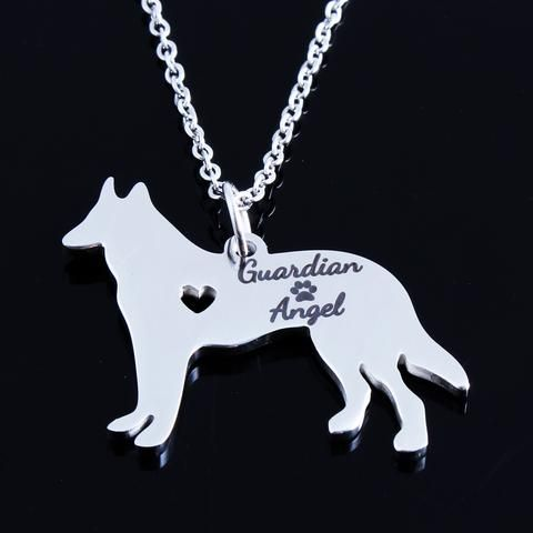 Guardian Angel German Shepherd Necklace - DingJewels