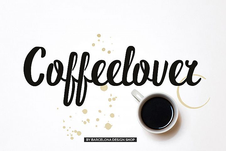 Coffeelover Font #ad.