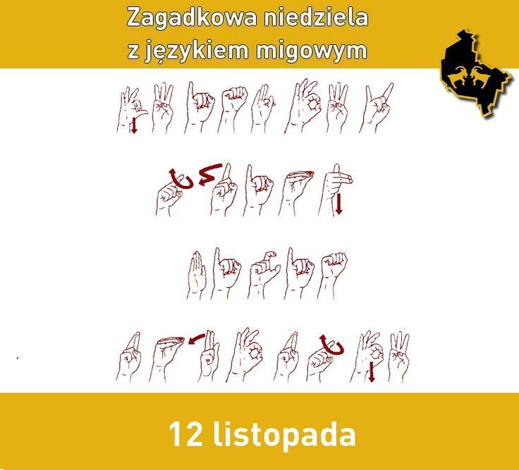 Zagadkowa niedziela z alfabetem polskiego języka migowego - Towarzystwo Pomocy Głuchoniewidomym Wielkopolska Jednostka Wojewódzka  #migowy #jezykmigowy #pjm #zagadka #migam #polskijezykmigowy #polishsignlanguage #signlanguage #deafblind