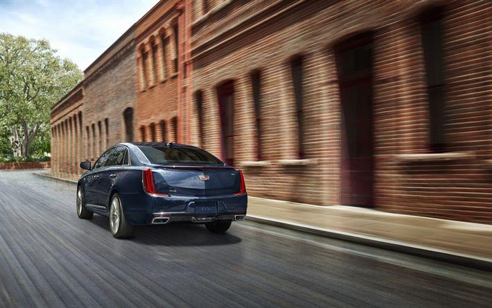 Download imagens Cadillac XTS, 2018, Visão traseira, carros novos, limousine