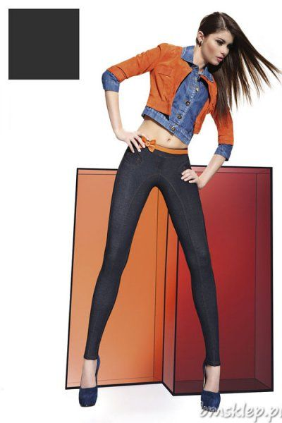 Tak miękkich i wygodnych Jeansów jeszcze nie miałaś !! Stylowe legginsy pasujące do każdej kreacji. Model ma przeszycie z przodu, które ma na celu optyczne wydłużenie nóg. Jeansowy #fason przełamany został kontrastującą nitką nadającą oryginalnego charakteru. Fason posiada imitacje rozporka kieszonek z przodu i tyłu. Elastyczne, miękkie w dotyku, pięknie opinają #cialo. Grubość 200 Den – kryjące cał... #Legginsy - http://bmsklep.pl/legginsy