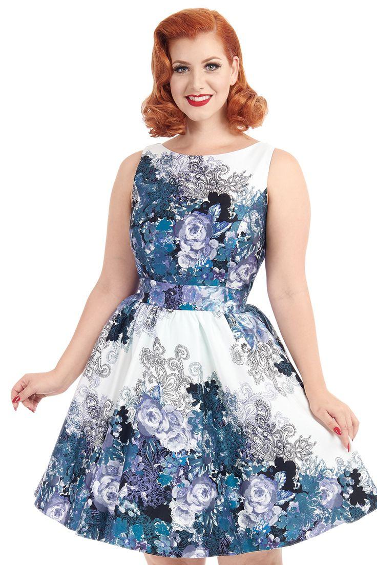Elegante en classy Lady Vintage Black and Grey Rose Floral College Tea Dress. Deze jurk heeft een volle cirkel en is geïnspireerd op de jaren 50.