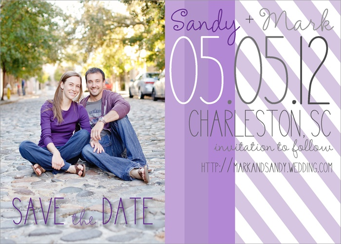 Shades of Purple Save the Dates via Party Box Design, Save the Date Magnets