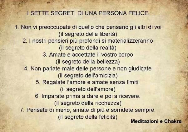 ... i sette segreti ...