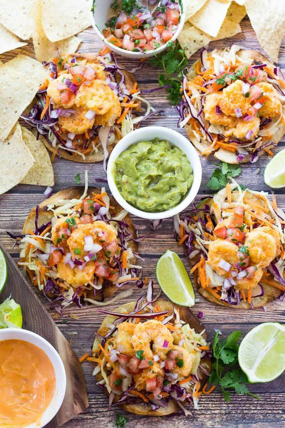 Bang Bang Shrimp Tacos are a healthier version of the Bonefish Grill favourite – you're gonna have these tacos on repeat, trust me!