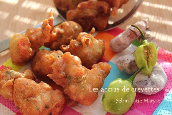 Recette des accras de crevettes, recette antillaise