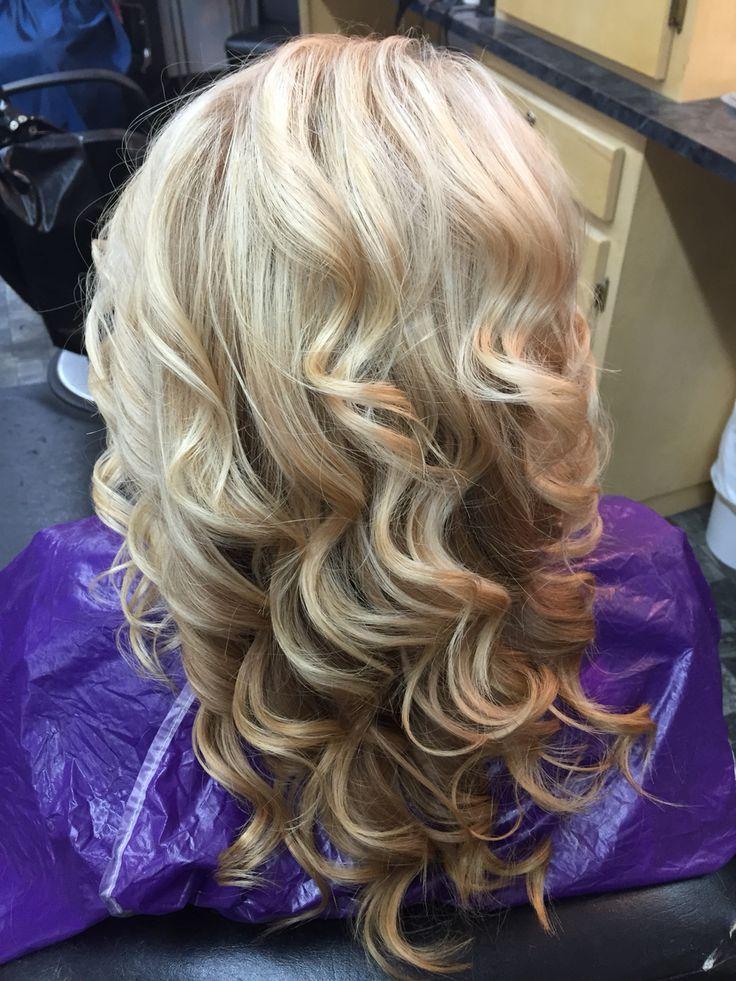 Carmel and blonde hair