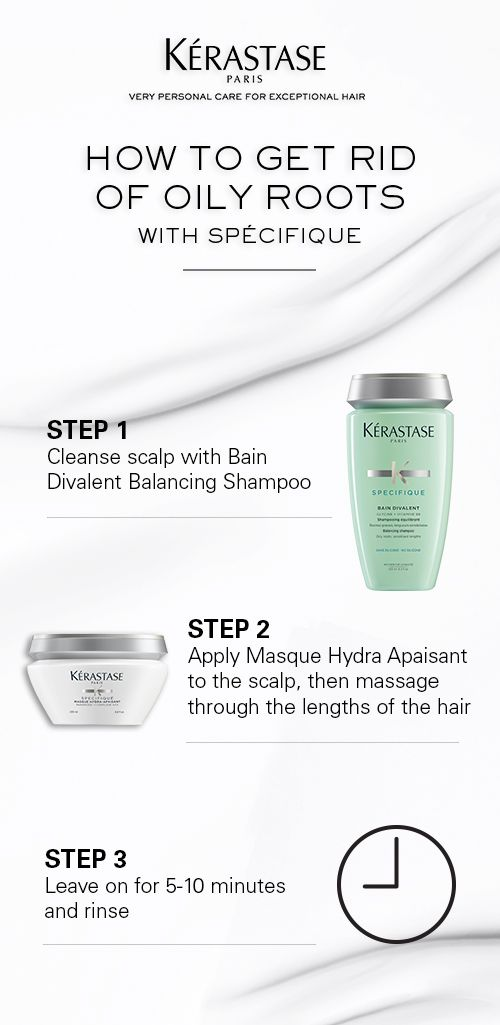 How to get rid of oily roots with Kerastase Specifique Bain Divalent Balancing Shampoo and Masque Hydra Apaisant.