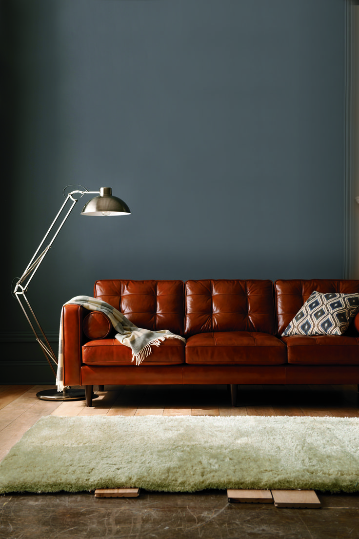darrin leather sofa, industrial jointed floor lamp