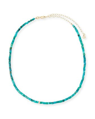 Beaded+Turquoise+Necklace+with+Diamond+Rondelle+by+Sydney+Evan+at+Bergdorf+Goodman.