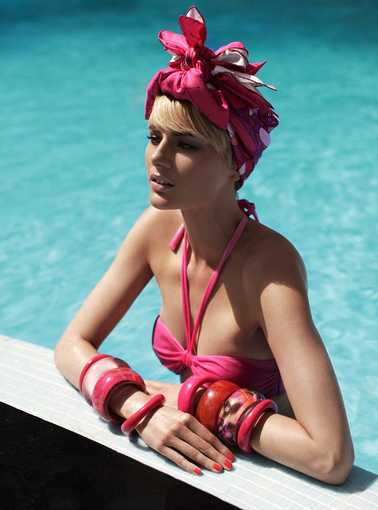 Zoltan Tombor, Grazia Italy: Grace Italy, Fashion, Style, Pool, Summer, Scarf, Louise Donegan, Hair