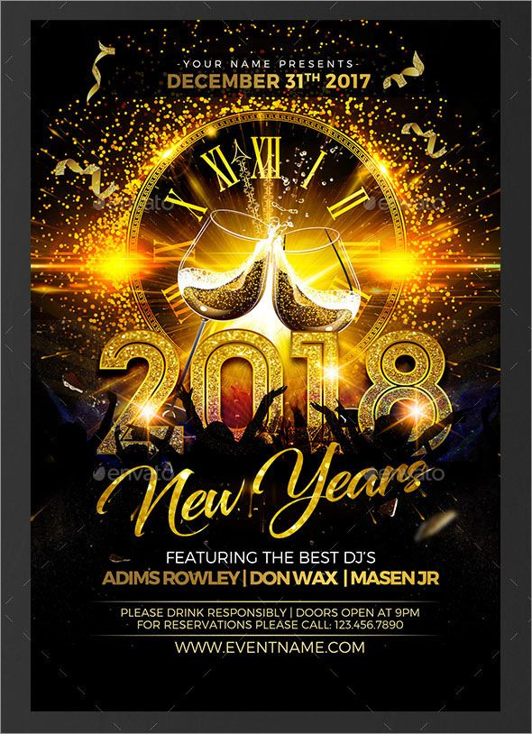100 Photo Realistic Electrifying New Year Flyers And Posters