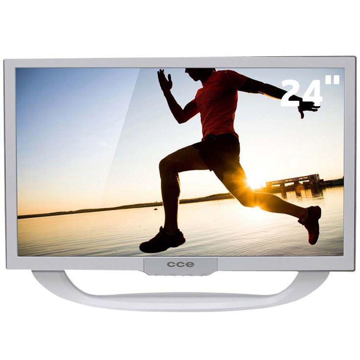 """TV LED 24""""HD CCE LN24GW com Conversor Digital com Sistema Ginga e Entradas HDMI e USB - TV LED no CasasBahia.com.br"""