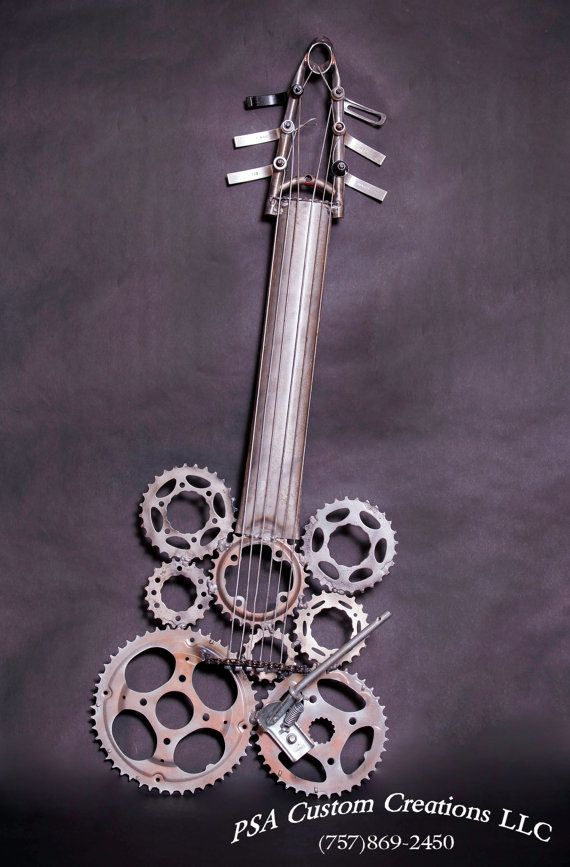 Steam punk Bike or bicycle guitar sculpture by PSACustomCreations, $500.00
