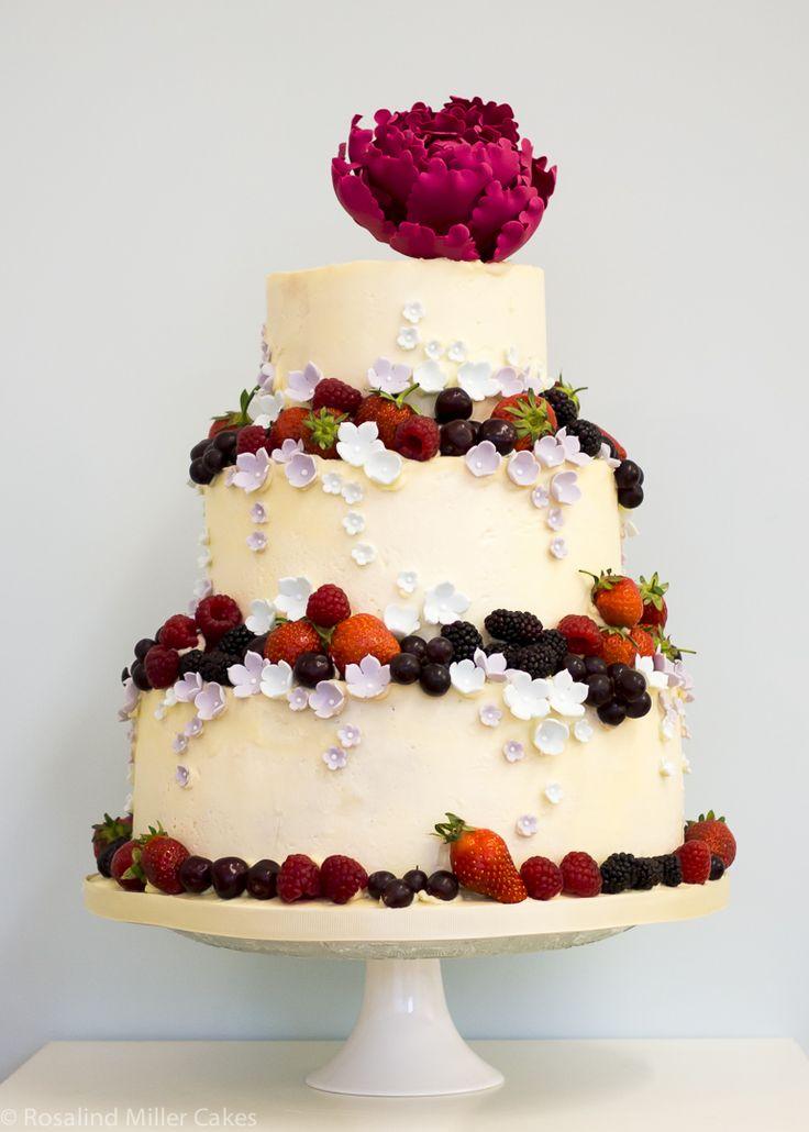 Summerfruits Buttercream Wedding Cake by Rosalind Miller Cakes - London