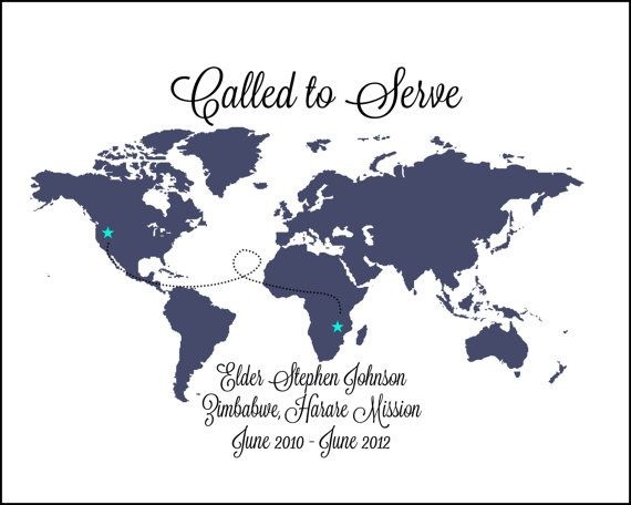 Called to serve - Custom LDS Missionary Announcement Digital by DesertPeachDesign