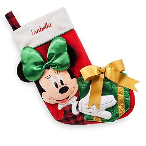 disney store minnie mouse plush holiday christmas stocking nol disneydcoration de nolchaussettes - Chaussette De Noel Disney