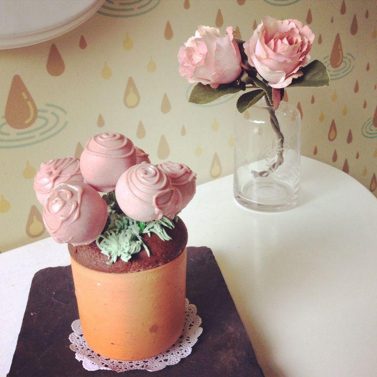 Chocolate trufles bouquet