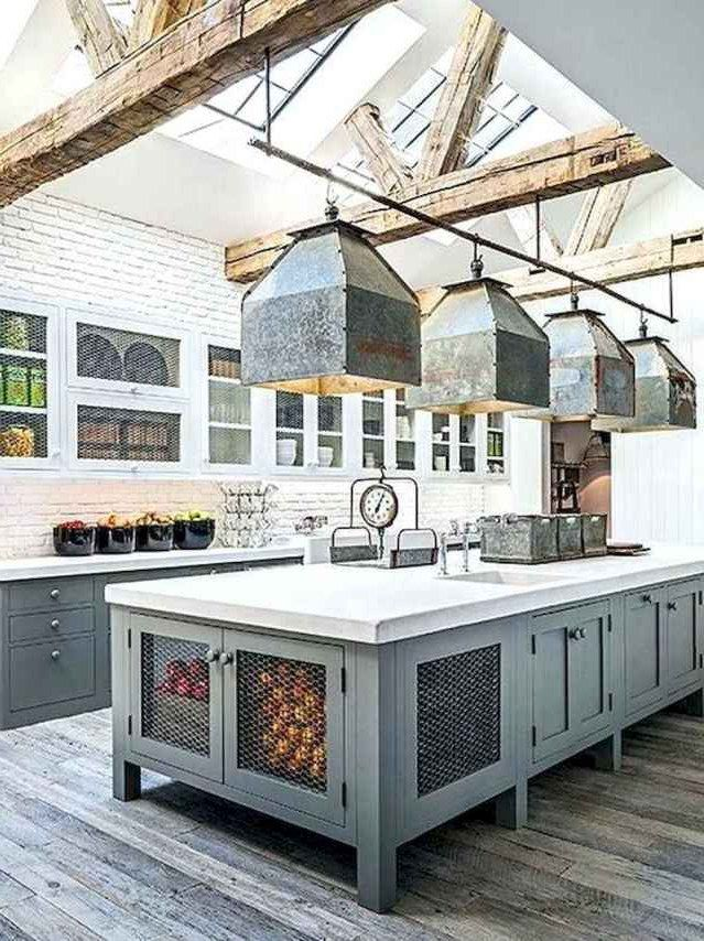 Top 27 Inspired Farmhouse Kitchen Island Design Ideas Best Home Design Ideas In 2020 Industrial Kitchen Design Farmhouse Kitchen Island Cool House Designs